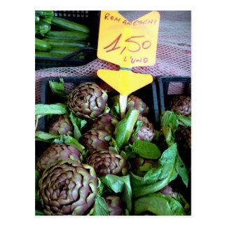 Romaneschi - alcachofas de globo postales
