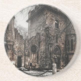 Romanescu castle sandstone coaster