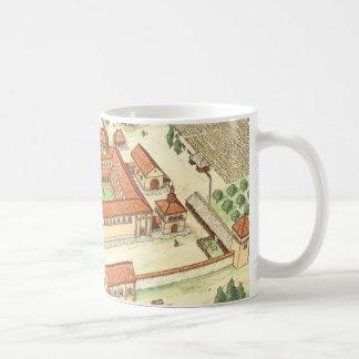 Romanesque Abbey. Model Coffee Mug