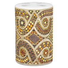 Romanesque Decorative Motif Soap Dispenser & Toothbrush Holder