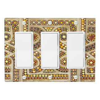 Romanesque Gold Mosaics Light Switch Cover