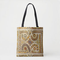 Romanesque Tile Pattern Tote Bag