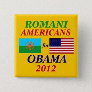Romani americans for Obama Button
