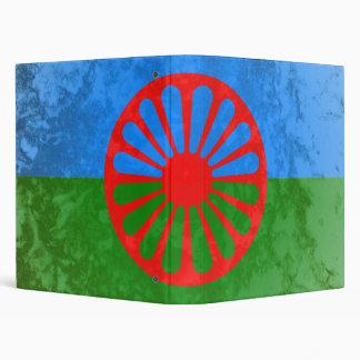 Romani flag 3 ring binder