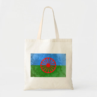 Romani flag budget tote bag