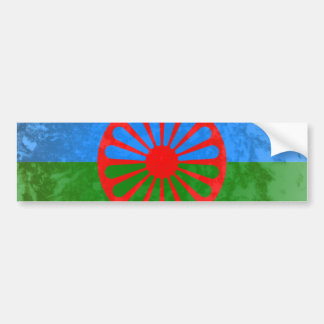 Romani flag car bumper sticker
