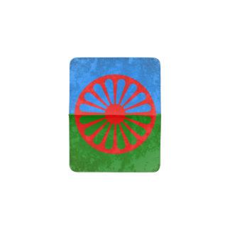 Romani flag business card holder