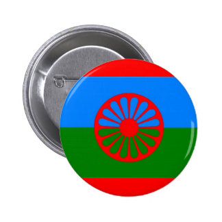 ROMANI FLAG PINBACK BUTTONS