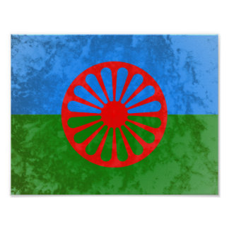 Romani flag poster