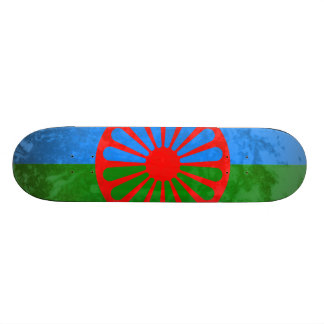 Romani flag skate board decks