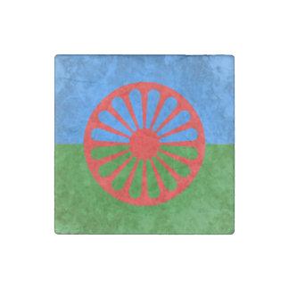 Romani flag stone magnet