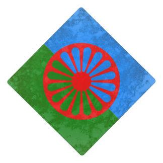 Romani flag graduation cap topper