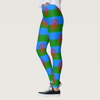 Romani & Gypsy Wagon Wheel Flag Leggings