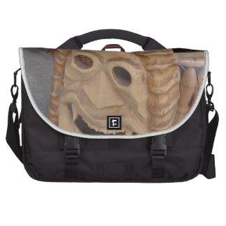 Romania, Bran, Dracula mask Laptop Messenger Bag
