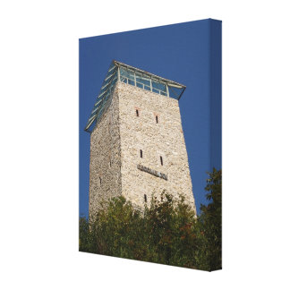 Romania, Brasov, City wall fortification Canvas Print