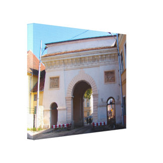 Romania, Brasov,  Gateway to old city Canvas Print