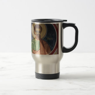 Romania, Brasov, Orthodox Christian Ikon 15 Oz Stainless Steel Travel Mug