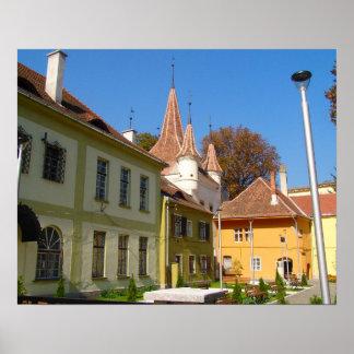 Romania, Brasov, St Catherine's Square Poster
