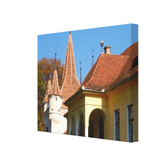 Romania, Brasov,  St Catherine's tower Canvas Print