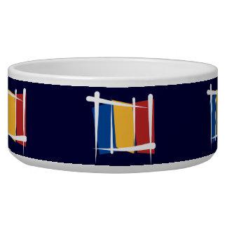 Romania Brush Flag Bowl