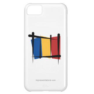 Romania Brush Flag Case For iPhone 5C