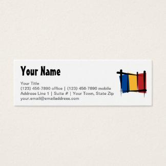 Romania Brush Flag Mini Business Card