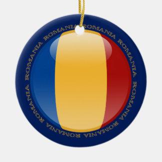Romania Bubble Flag Ceramic Ornament