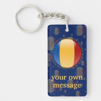 Romania Bubble Flag Keychain