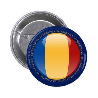 Romania Bubble Flag Pinback Button