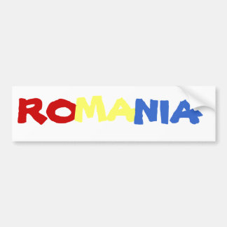 ROMANIA BUMPER STICKER