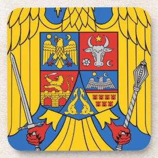 Romania - Coat of Arms. Emblem Beverage Coaster