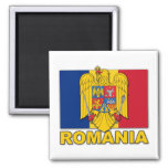 Romania Coat of Arms Flag 2 Inch Square Magnet