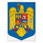 Romania Coat Of Arms Greeting Card