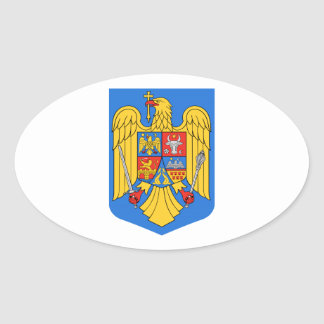 Romania Coat of Arms Oval Sticker