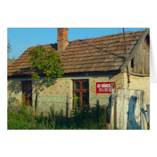 Romania, Come and live here, house for sale Card