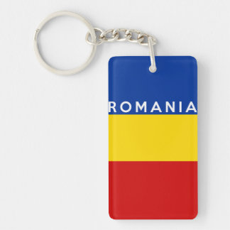 romania country flag symbol name text keychain