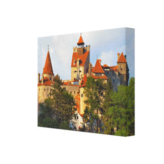 Romania, Dracula's castle at Bran Canvas Print
