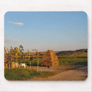 Romania, Farming country, haystack and maize Mouse Pad