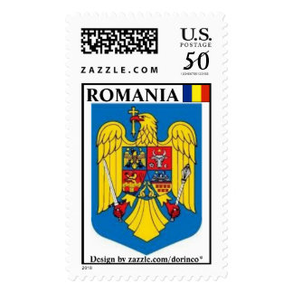 ROMANIA flag 2 Customized - Coat of Arms Postage