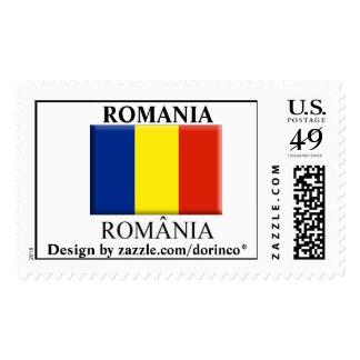 ROMANIA flag 2 Customized + Romanian spelling Postage