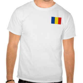 Romania Flag and Map T-Shirt