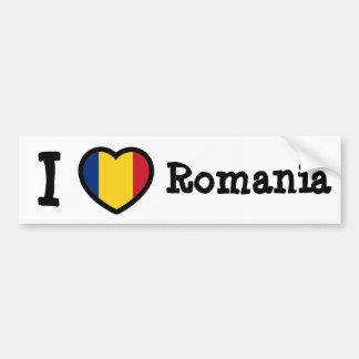 Romania Flag Car Bumper Sticker