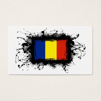 Romania Flag Business Card