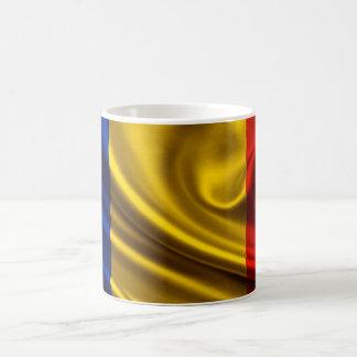 Romania Flag Fabric Coffee Mug