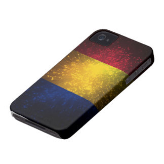 Romania Flag Firework iPhone 4 Case-Mate Case