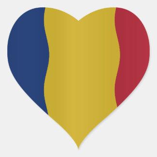 Romania flag heart sticker