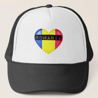 Romania Flag Heart Trucker Hat