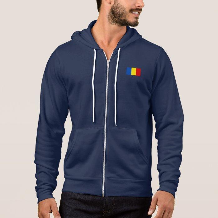 Romania Flag Hoodie