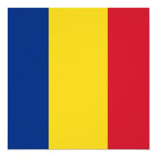 Romania Flag Invitation