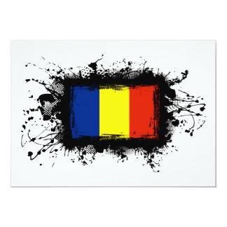 Romania Flag 5x7 Paper Invitation Card